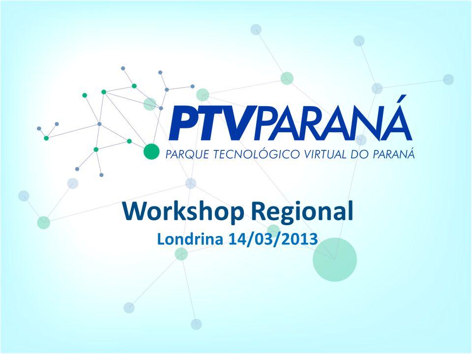 Conceito O Parque Tecnológico Virtual do Paraná é um conjunto de Instituições de Ciência e Tecnologia, Núcleos de Inovação Tecnológica, empresas de base tecnológica, incubadoras de empresas de base tecnológica, parques tecnológicos, centros de promoção de empreendedorismo, entidades prestadoras de serviços tecnológicos e demais entidades que atuam em PD&I chamados ativos tecnológicos que se integrarão, por meio de adesão, a uma plataforma tecnológica de gestão.