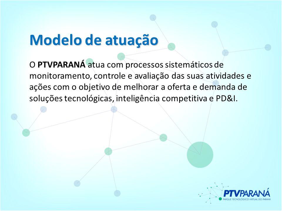 Modelo de atuação O PTVPARANÁ atua com processos sistemáticos de monitoramento, controle e avaliação das suas atividades e ações com o objetivo de mel