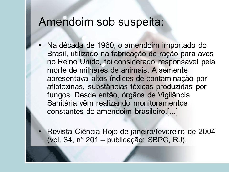 Amendoim sob suspeita: Na década de 1960, o amendoim importado do Brasil, utilizado na fabricação de ração para aves no Reino Unido, foi considerado r