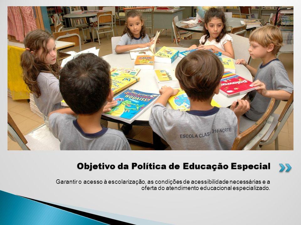 Garantir o acesso à escolarização, as condições de acessibilidade necessárias e a oferta do atendimento educacional especializado. Objetivo da Polític