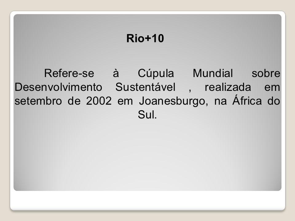 AGENDA 21 Além da Agenda 21, resultaram desse processo cinco outros acordos: a Declaração do Rio, a Declaração de Princípios sobre o Uso das Florestas