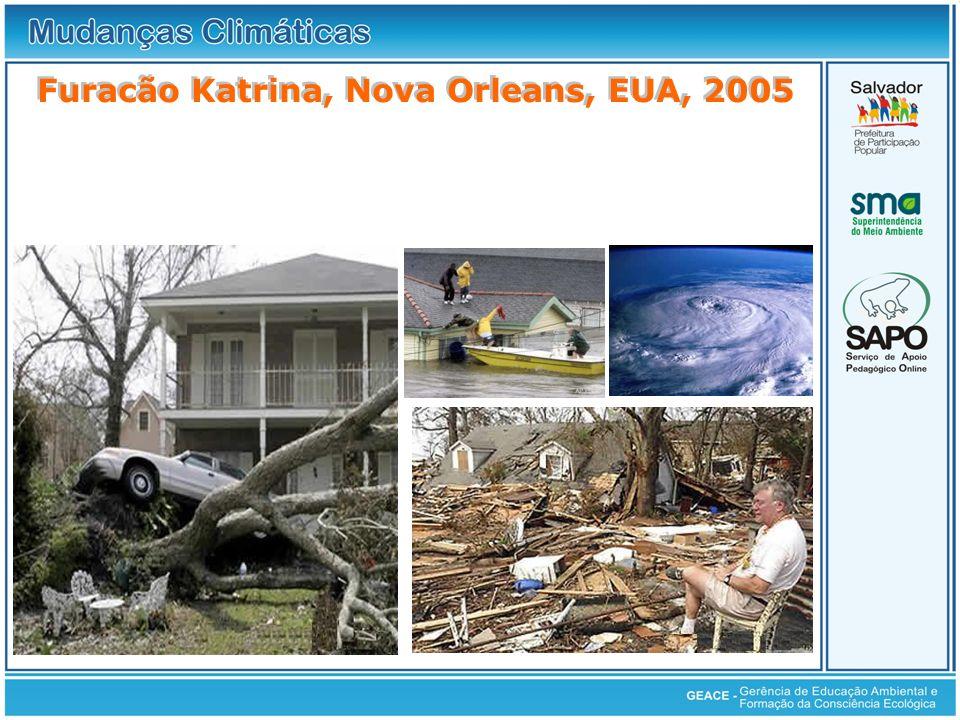 Furacão Katrina, Nova Orleans, EUA, 2005 Furacão Katrina