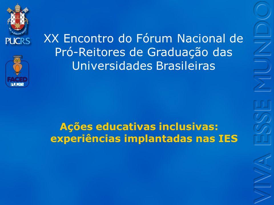 Logo do Setor XX Encontro do Fórum Nacional de Pró-Reitores de Graduação das Universidades Brasileiras Ações educativas inclusivas: experiências impla