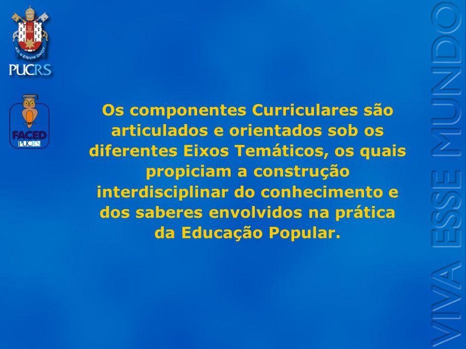Logo do Setor Os componentes Curriculares são articulados e orientados sob os diferentes Eixos Temáticos, os quais propiciam a construção interdiscipl