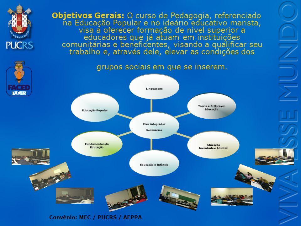 Logo do Setor Objetivos Gerais: O curso de Pedagogia, referenciado na Educação Popular e no ideário educativo marista, visa a oferecer formação de nív