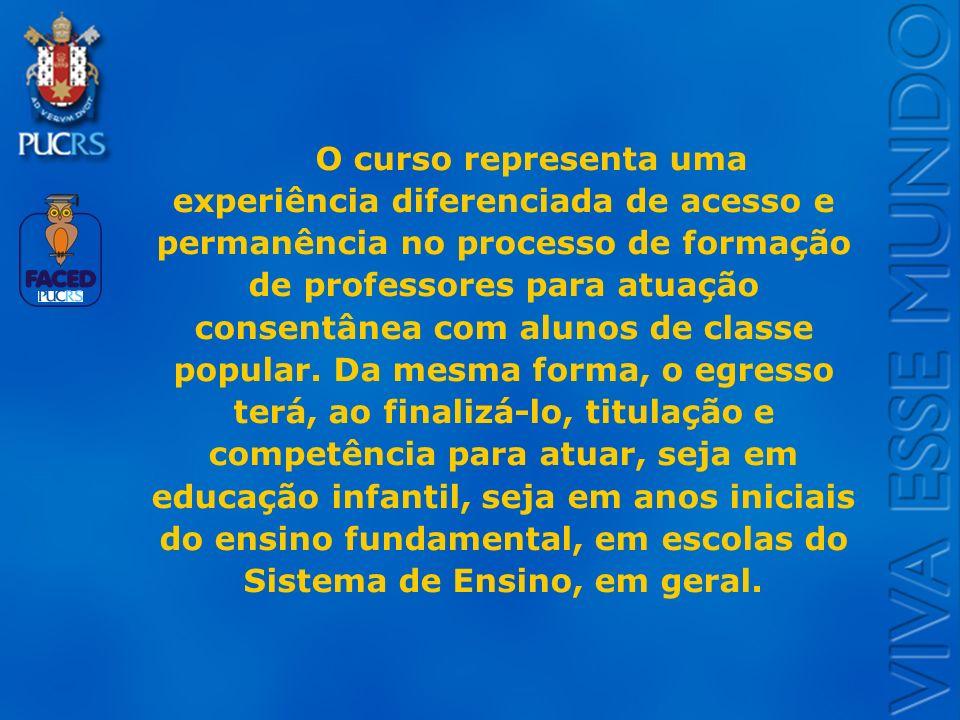 Logo do Setor O curso representa uma experiência diferenciada de acesso e permanência no processo de formação de professores para atuação consentânea