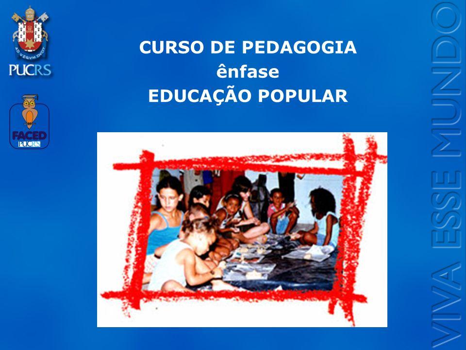 Logo do Setor CURSO DE PEDAGOGIA ênfase EDUCAÇÃO POPULAR