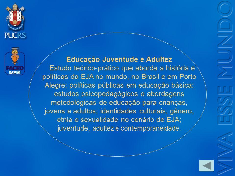 Logo do Setor Educação Juventude e Adultez Estudo teórico-prático que aborda a história e políticas da EJA no mundo, no Brasil e em Porto Alegre; polí