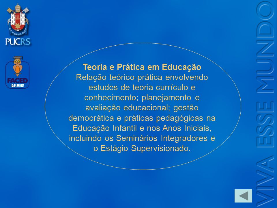 Logo do Setor Teoria e Prática em Educação Relação teórico-prática envolvendo estudos de teoria currículo e conhecimento; planejamento e avaliação edu
