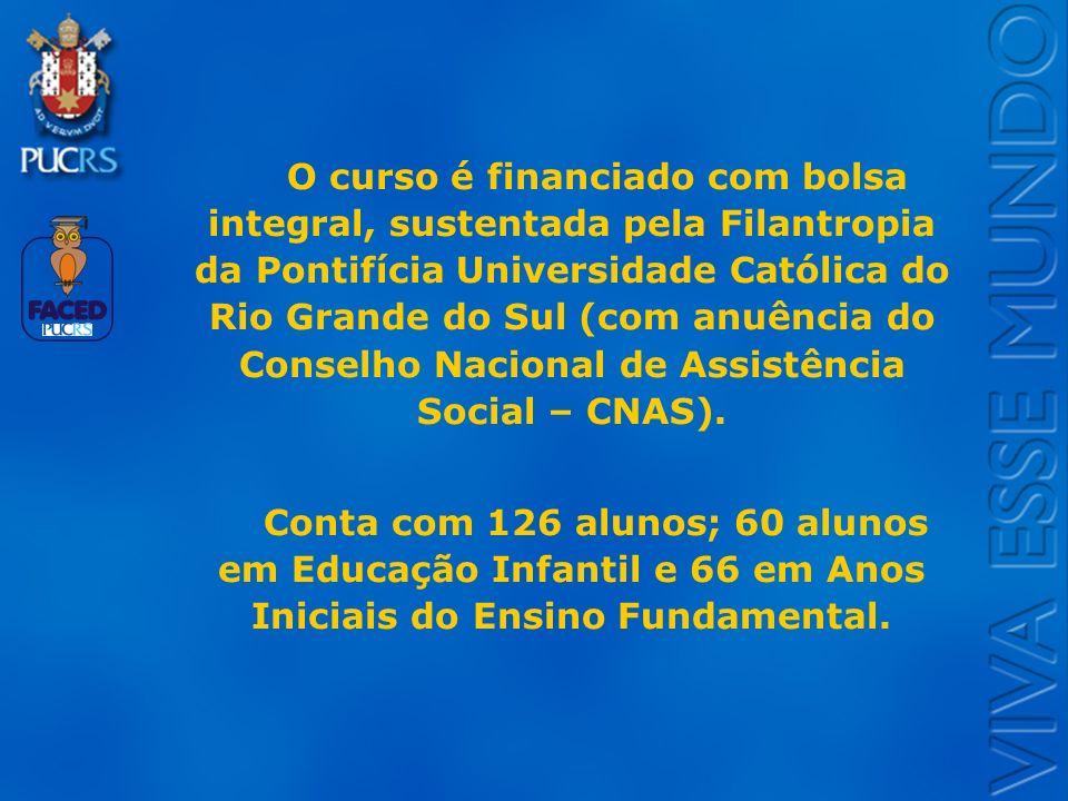 Logo do Setor O curso é financiado com bolsa integral, sustentada pela Filantropia da Pontifícia Universidade Católica do Rio Grande do Sul (com anuên