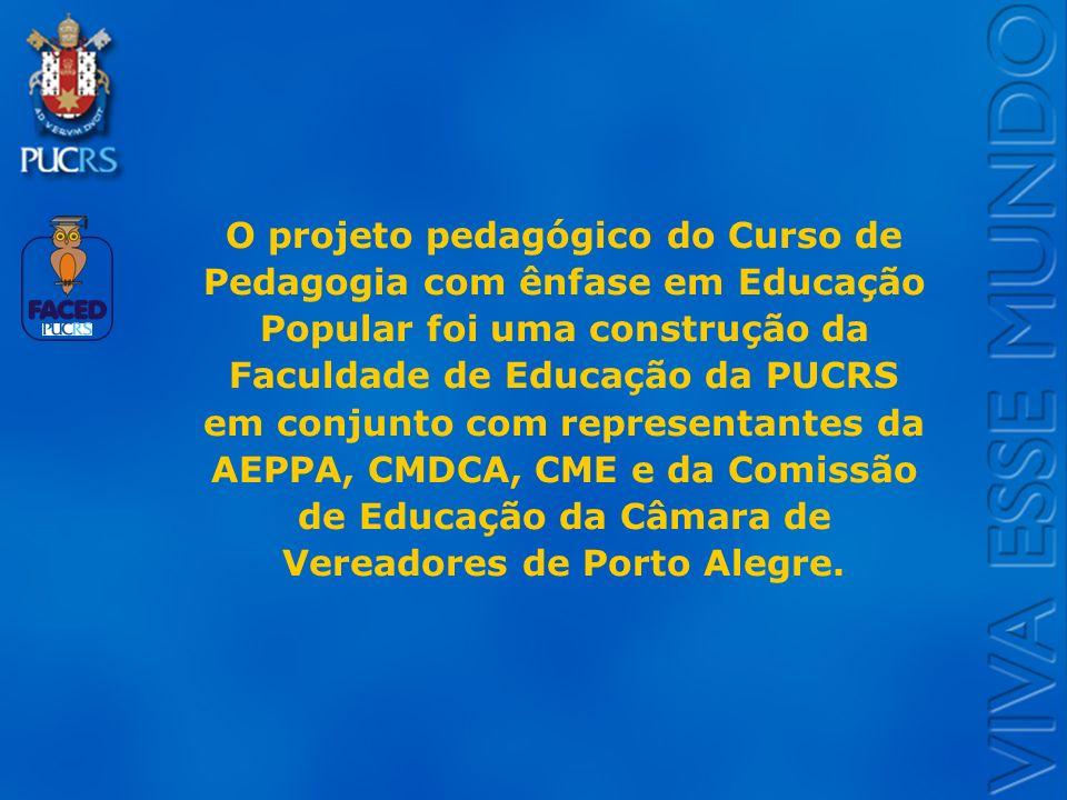 Logo do Setor O projeto pedagógico do Curso de Pedagogia com ênfase em Educação Popular foi uma construção da Faculdade de Educação da PUCRS em conjun