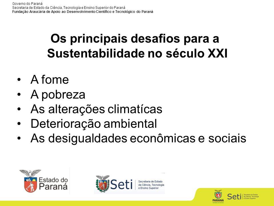 Governo do Paraná Secretaria de Estado da Ciência, Tecnologia e Ensino Superior do Paraná Fundação Araucária de Apoio ao Desenvolvimento Científico e Tecnológico do Paraná Convênio CAPES / Fundação Araucária 2012 – 2016