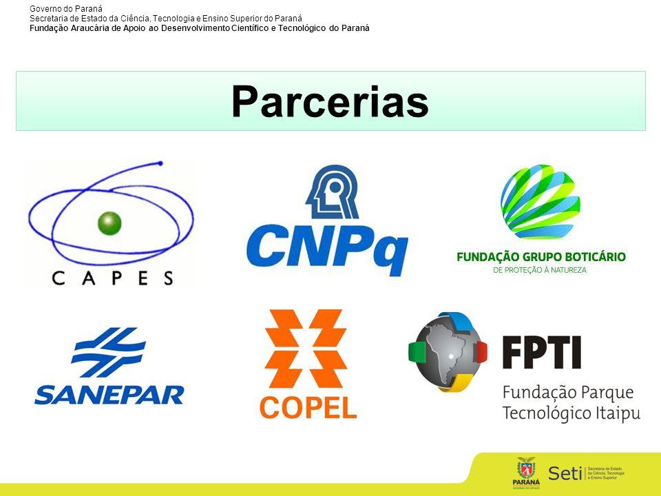 Governo do Paraná Secretaria de Estado da Ciência, Tecnologia e Ensino Superior do Paraná Fundação Araucária de Apoio ao Desenvolvimento Científico e