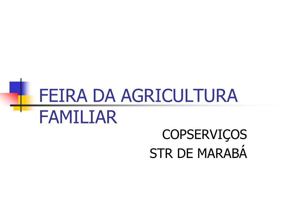 FEIRA DA AGRICULTURA FAMILIAR COPSERVIÇOS STR DE MARABÁ