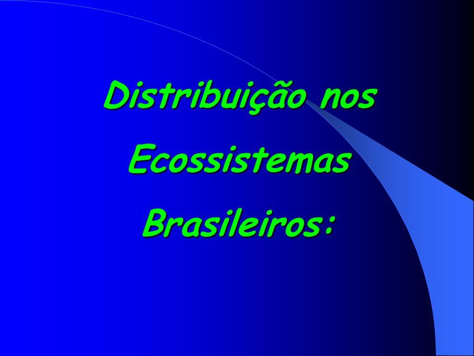 Distribuição nos EcossistemasBrasileiros: