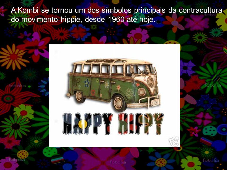 A Kombi se tornou um dos símbolos principais da contracultura do movimento hippie, desde 1960 até hoje.