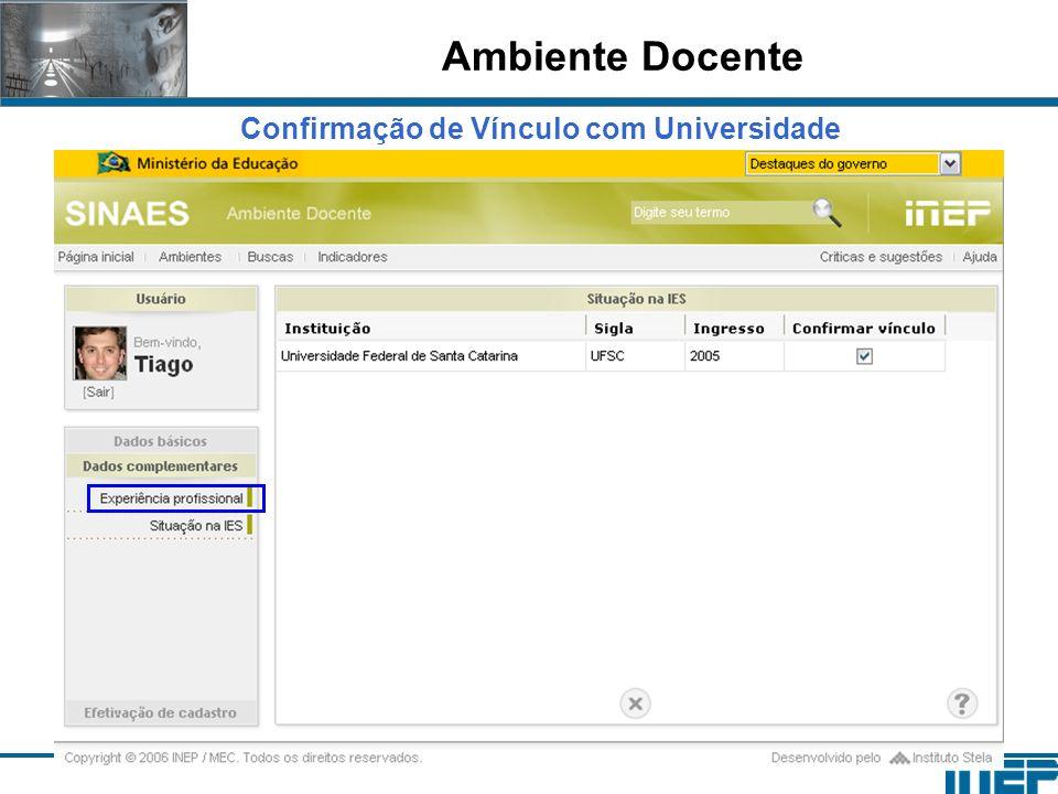 Confirmação de Vínculo com Universidade