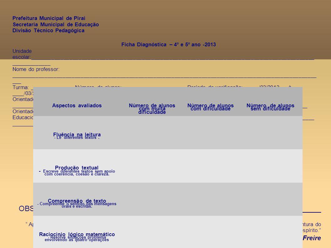III – Grandezas e medidas - Unidades de medida (comprimento, massa, capacidade, superfície, temperatura, tempo) - Duração, seqüência temporal, periodicidade - Velocidade, distância, simultaneidade - Sistema monetário - Perímetro e área IV – Tratamento da informação - Interpretação de dados e informação - Gráficos e tabelas (confecção e interpretação) - Estatística, probabilidade, combinatória Diretrizes Curriculares do Ensino Fundamental – Anos Iniciais 2010