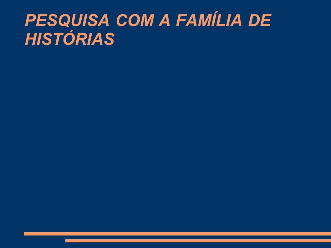 PESQUISA COM A FAMÍLIA DE HISTÓRIAS