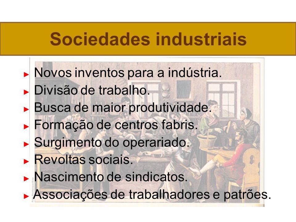 Novos inventos para a indústria.Divisão de trabalho.