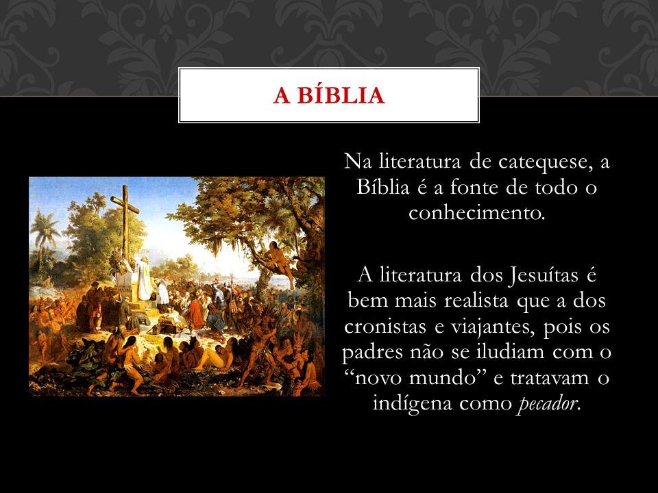 Na literatura de catequese, a Bíblia é a fonte de todo o conhecimento. A literatura dos Jesuítas é bem mais realista que a dos cronistas e viajantes,