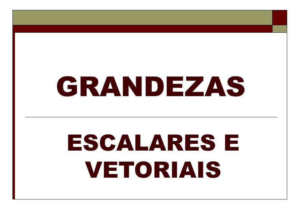 Representação de uma Grandeza Vetorial As grandezas vetorial são representadas da seguinte forma: a letra que representa a grandeza, e uma a flechinha sobre a letra.