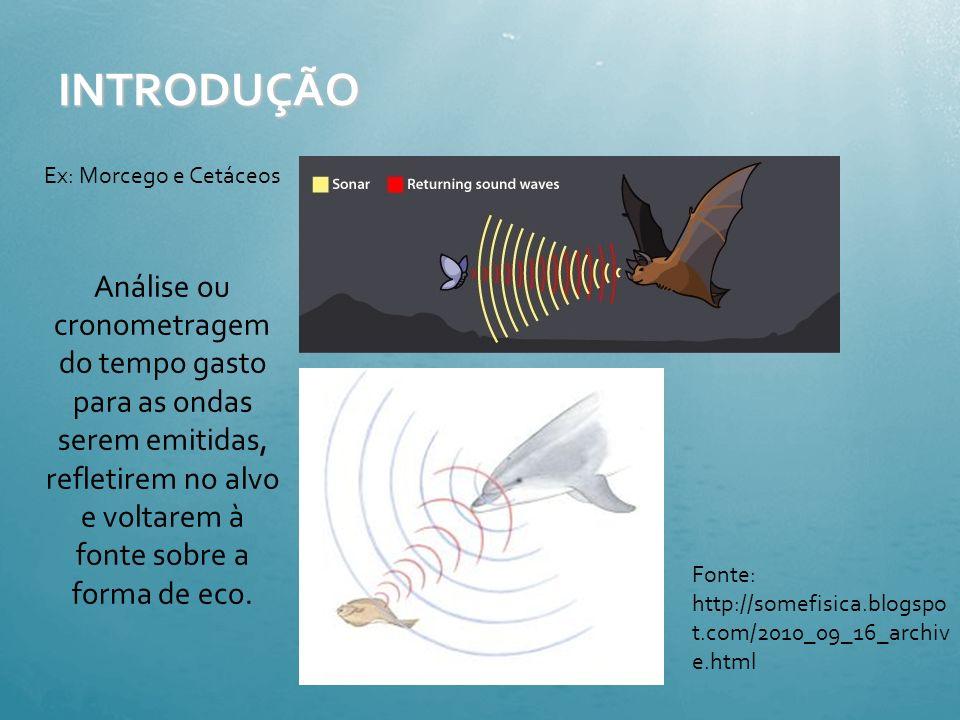 ECOLOCAÇÃO -Sinais de objetos recebidos na mandíbula transmitidos ao ouvido médio e cérebro processado e interpretado -Relatado tamanho, forma, caract