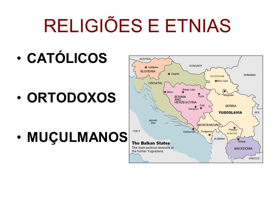 RELIGIÕES E ETNIAS CATÓLICOS ORTODOXOS MUÇULMANOS