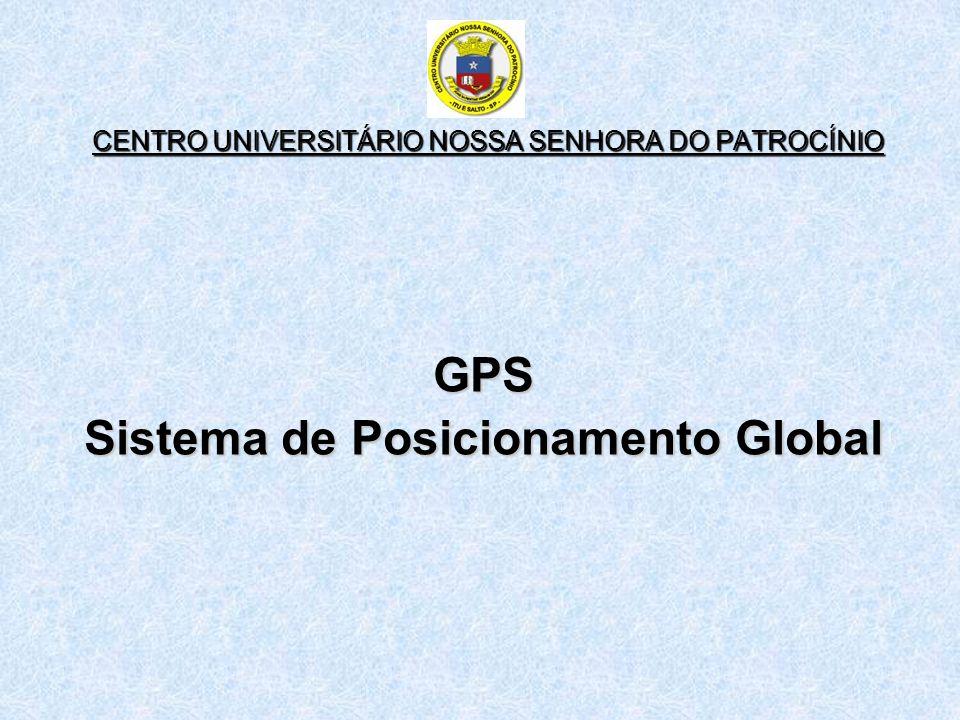 CENTRO UNIVERSITÁRIO NOSSA SENHORA DO PATROCÍNIO GPS Sistema de Posicionamento Global