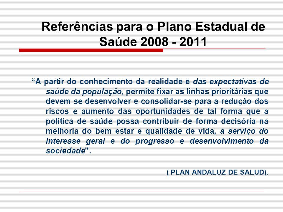 Plano Operativo e Relatório de Gestão PLANO – Política Estadual de Saúde (quadriênio).