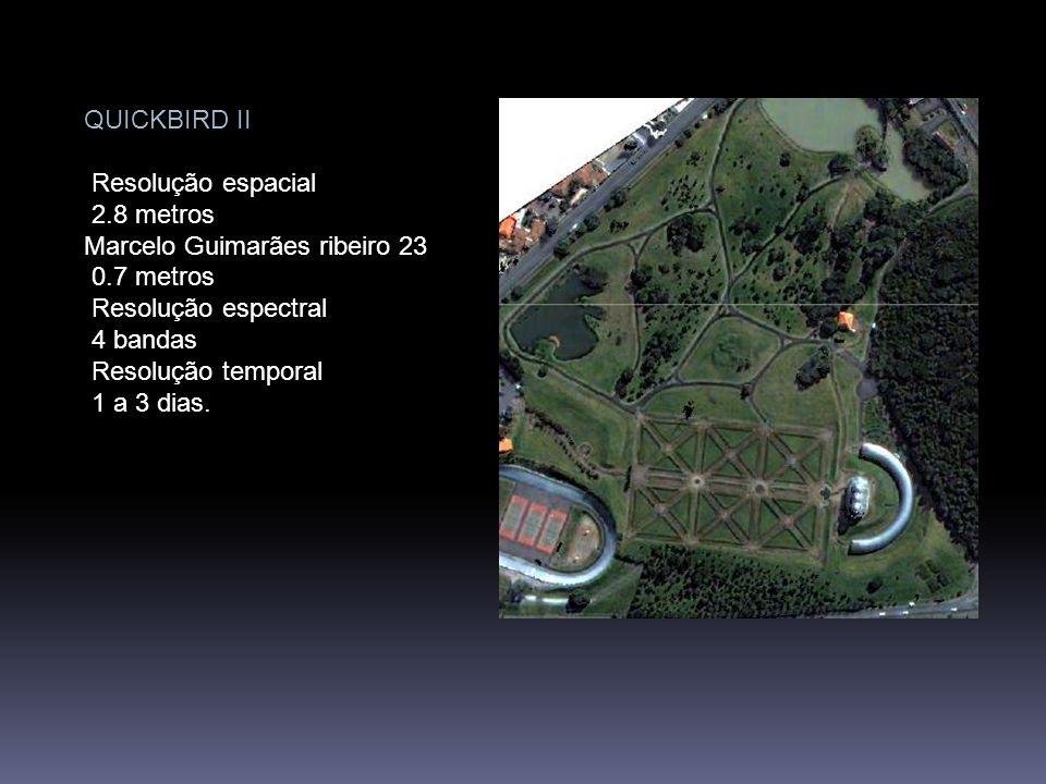 Sistema CBERS CBERS e CBERS 2 Sensor CCD Resolução Espacial 20 m – multispectral Marcelo Guimarães ribeiro 21 Resolução Espectral 4 bandas espectrais