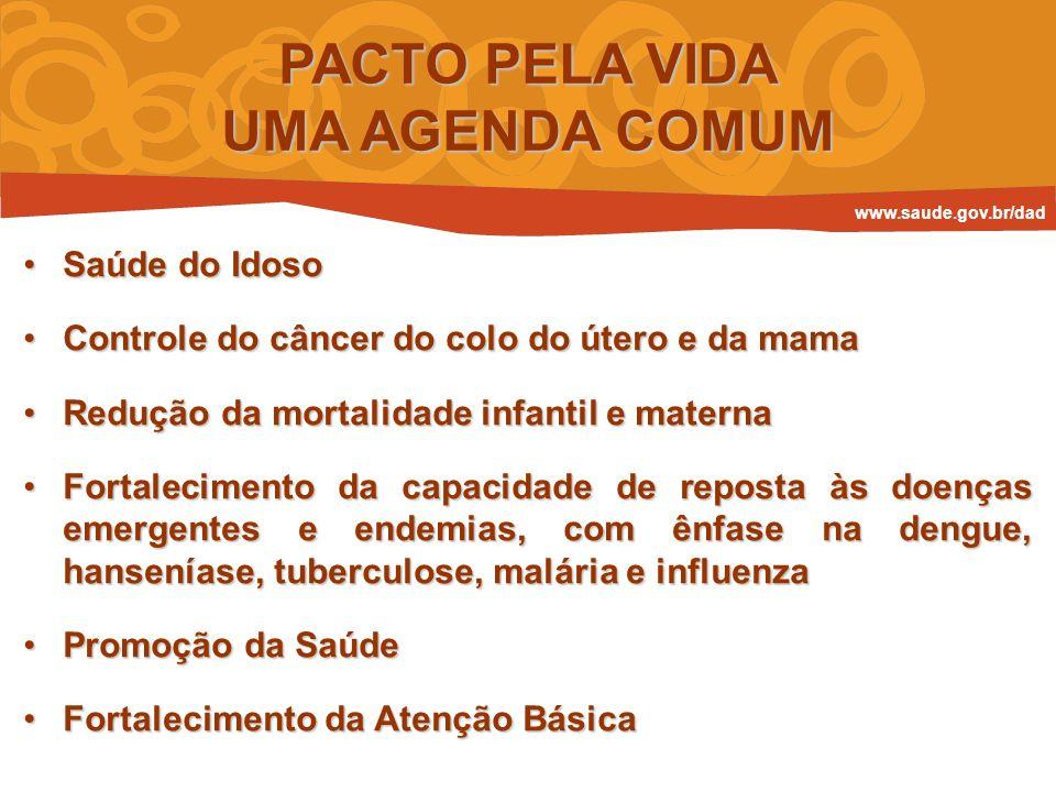 Saúde do IdosoSaúde do Idoso Controle do câncer do colo do útero e da mamaControle do câncer do colo do útero e da mama Redução da mortalidade infanti