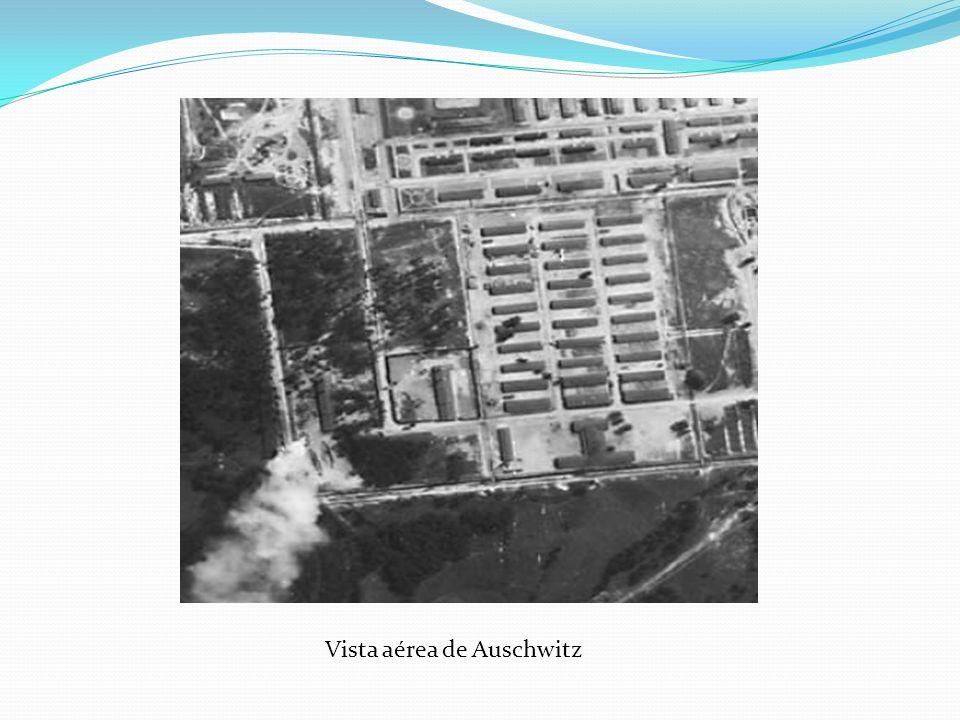 Vista aérea de Auschwitz
