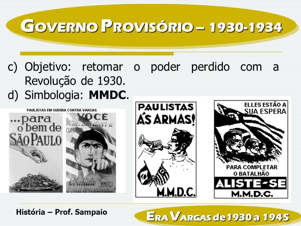 e)Conseqüência: Lei eleitoral de 1932 voto secreto voto feminino Criação da Justiça Eleitoral História – Prof.