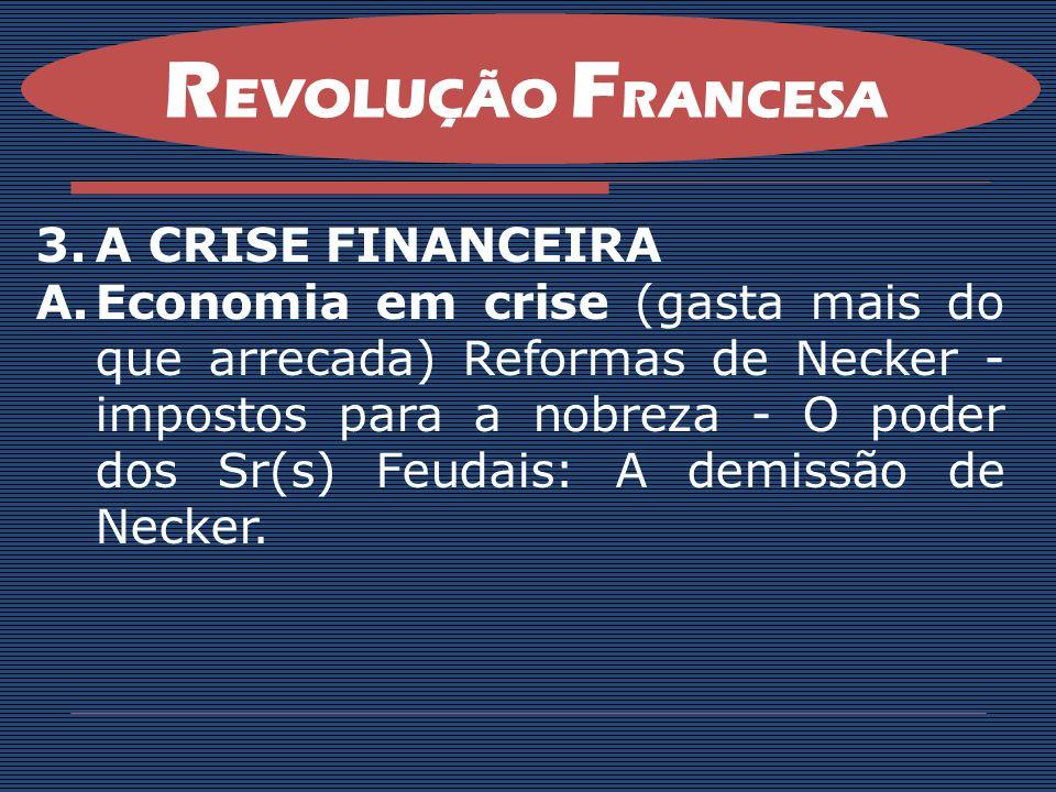 B.A Assembléia dos Estados Gerais: O governo tinha gasto demais e não havia dinheiro para pagar as contas públicas.