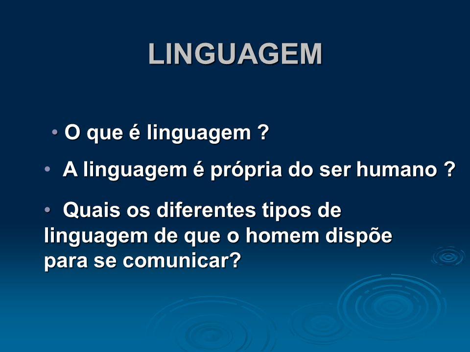 OBJETIVOS Diferenciar linguagem, língua e código. Diferenciar linguagem, língua e código. Conceituar linguagem verbal e não-verbal. Conceituar linguag