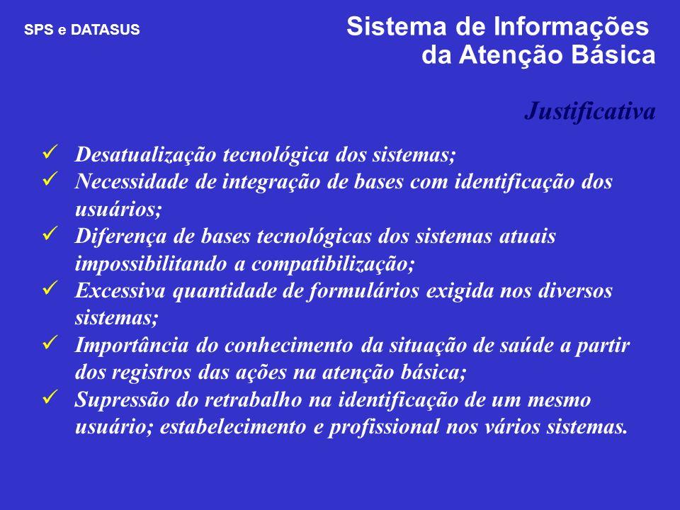 Desatualização tecnológica dos sistemas; Necessidade de integração de bases com identificação dos usuários; Diferença de bases tecnológicas dos sistem