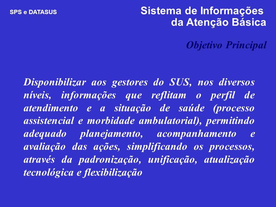 Disponibilizar aos gestores do SUS, nos diversos níveis, informações que reflitam o perfil de atendimento e a situação de saúde (processo assistencial
