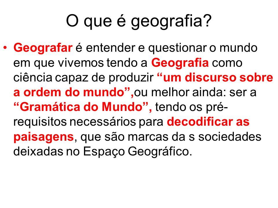 O que é geografia.
