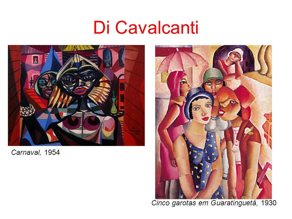 Di Cavalcanti Cinco garotas em Guaratinguetá, 1930 Carnaval, 1954