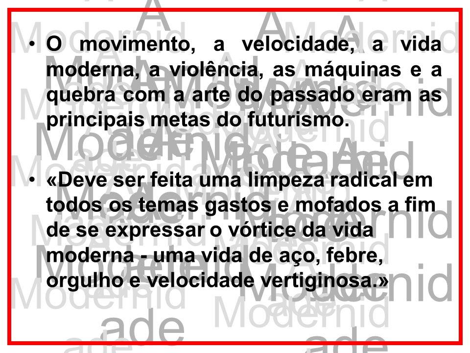 A Modernid ade Os artistas brasileiros buscavam uma identidade própria e a liberdade de expressão; com este propósito, experimentavam diferentes caminhos sem definir nenhum padrão.
