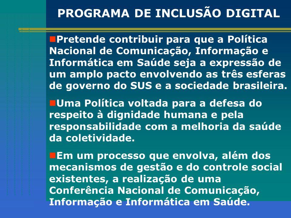 Pretende contribuir para que a Política Nacional de Comunicação, Informação e Informática em Saúde seja a expressão de um amplo pacto envolvendo as tr