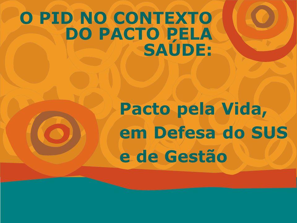 Miguel Murat Vasconcellos - ENSP Pacto pela Vida, em Defesa do SUS e de Gestão O PID NO CONTEXTO DO PACTO PELA SAÚDE: