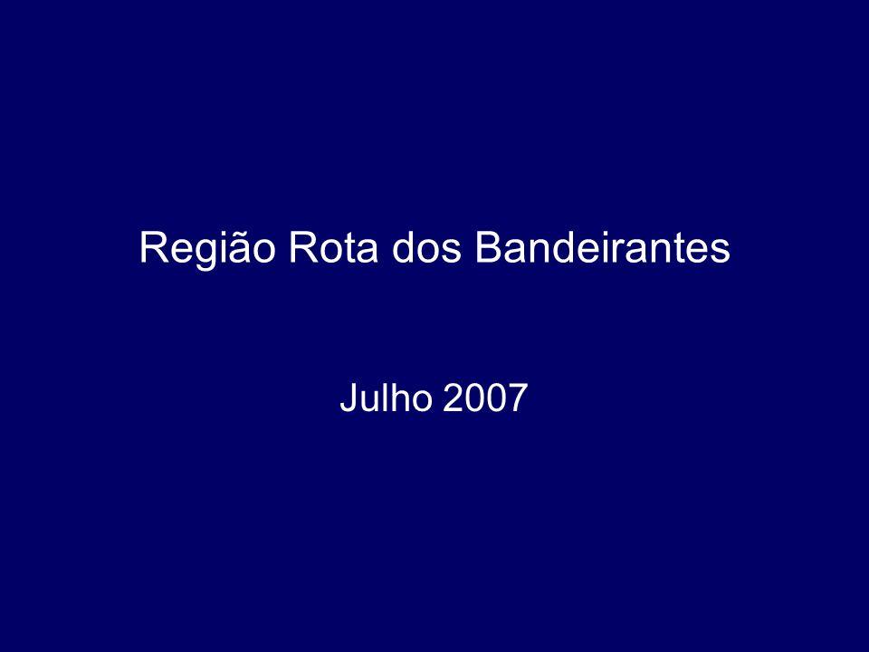 Região Rota dos Bandeirantes Julho 2007