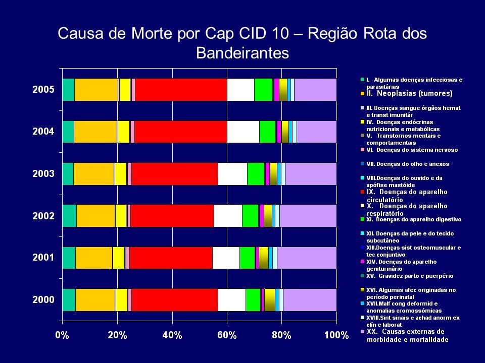 Causa de Morte por Cap CID 10 – Região Rota dos Bandeirantes