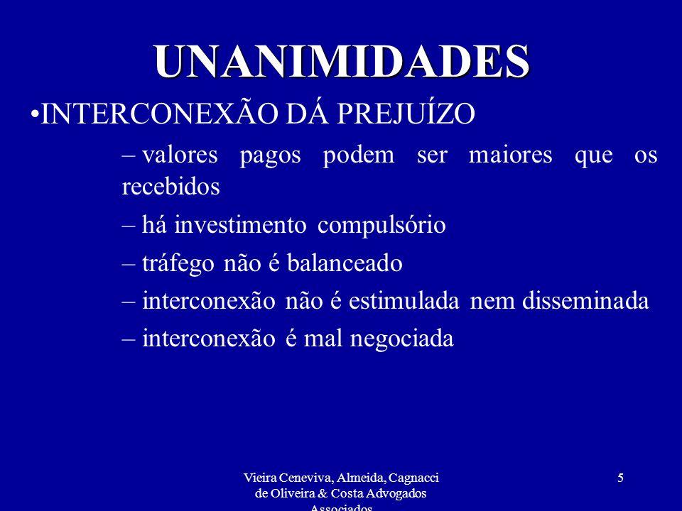 Vieira Ceneviva, Almeida, Cagnacci de Oliveira & Costa Advogados Associados 25 REGULAMENTAÇÃO Controle direto das tarifas praticadas ao usuário final do SCM e STFC.