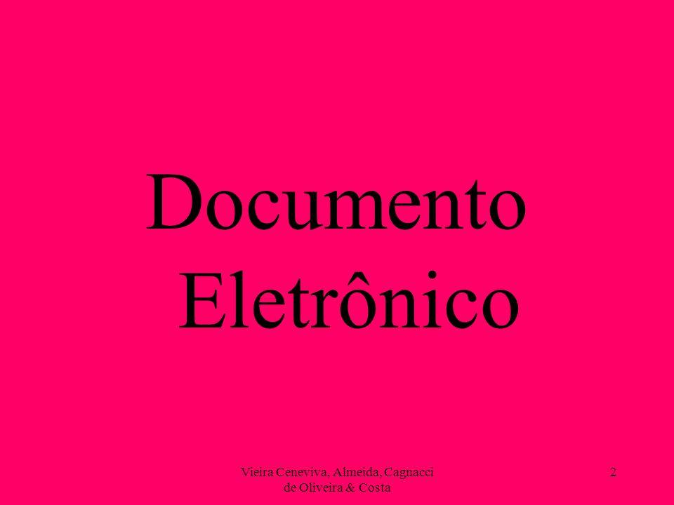Vieira Ceneviva, Almeida, Cagnacci de Oliveira & Costa 13 Documento Eletrônico SEÇÃO V DA PROVA DOCUMENTAL SUBSEÇÃO I DA FORÇA PROBANTE DOS DOCUMENTOS Art.