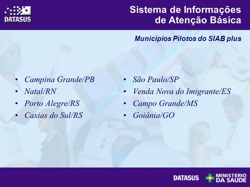 Campina Grande/PB Natal/RN Porto Alegre/RS Caxias do Sul/RS São Paulo/SP Venda Nova do Imigrante/ES Campo Grande/MS Goiânia/GO Sistema de Informações