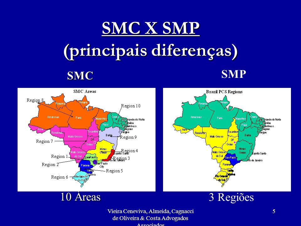 Vieira Ceneviva, Almeida, Cagnacci de Oliveira & Costa Advogados Associados 5 SMC X SMP (principais diferenças) SMC 10 Áreas SMP 3 Regiões