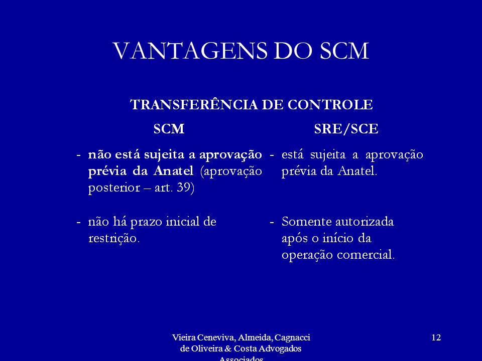 Vieira Ceneviva, Almeida, Cagnacci de Oliveira & Costa Advogados Associados 12 VANTAGENS DO SCM